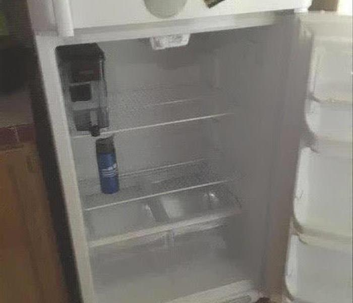 Refrigerator cleaned from smoke damage